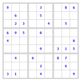 thumb-Sudoku 9x9